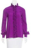 Balenciaga Silk Button-Up Top