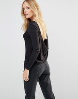 Noisy May Scoop Back Long Sleeve Top