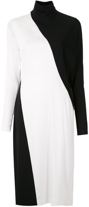 Gloria Coelho Two-Tone Midi Dress