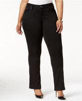 SLINK Jeans Trendy Plus Size Black Wash Bootcut Jeans