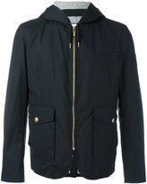 Moncler Gamme Bleu hooded quilted jacket - men - Cotton/Cupro/Feather Down - 3