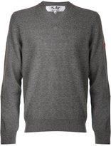 Comme des Garcons mini heart v-neck sweater - men - Wool - S