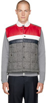 Thom Browne Black and White Classic Down Herringbone Vest
