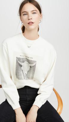 Anine Bing Ramona Sweatshirt Walk with Me