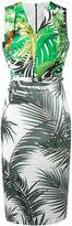 Max Mara contrast palm print dress - women - Cotton - 40