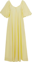 Co Pleated Cotton-Blend Dress