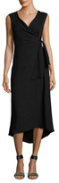Tracy Reese Faux Wrap Midi Dress