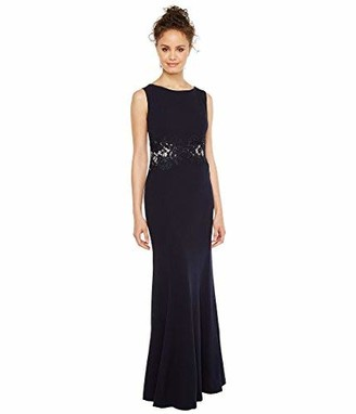 Sangria Women's Gown with Waist Detail Navy 2