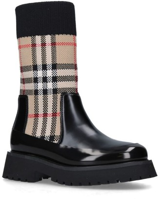 Burberry Kids Vintage Check Sock Boots