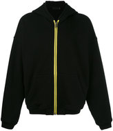 Haider Ackermann contrast zip up hoodie - men - Cotton - S