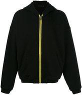Haider Ackermann contrast zip up hoodie - men - Cotton - XS