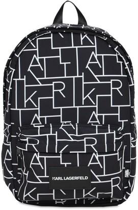 Karl Lagerfeld Paris All Over Print Nylon Backpack