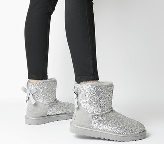 UGG Classic Mini Bow Cosmos Boots Silver