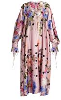 Natasha Zinko Floral-print satin dress