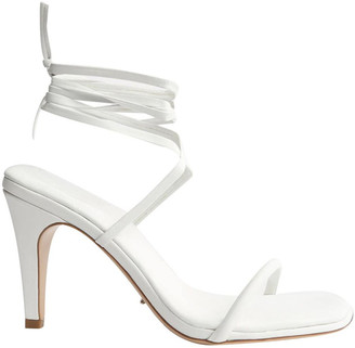 Tony Bianco Jenna White Sheep Nappa Heels