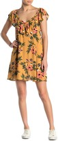 Rip Curl Sunchasers Floral Ruffle Trim Dress
