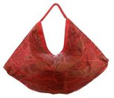 Nada Sawaya Laser Cut Leather Hobo