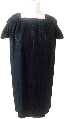 Burberry Navy Silk Dresses