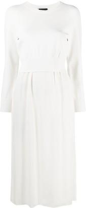 Theory Long-Sleeve Sweater Midi Dress