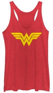 Fifth Sun Dc Wonder Woman Simple Logo Tri-Blend Women's Racerback Tank