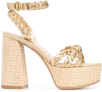 Gianvito Rossi Braided Platform Sandals