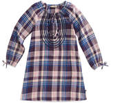 Lucky Brand Blue Crown Jewel Plaid Sarah Dress - Girls