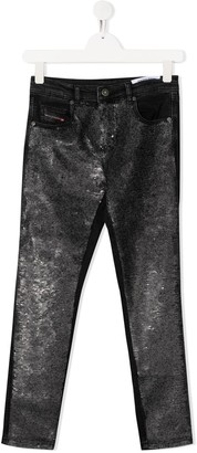 Diesel TEEN sequin embellished jeans