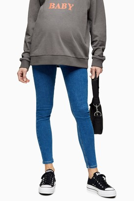 Topshop Womens **Maternity Mid Stone Over The Bump Joni Skinny Jeans - Mid Stone