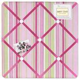 JoJo Designs Pink and Green Jungle Friends Stripe Fabric Memory/Memo Photo Bulletin Board by Sweet