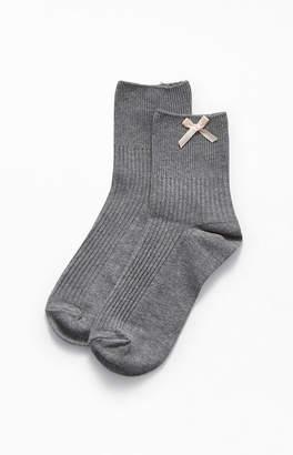 La Hearts Baby Bow Socks