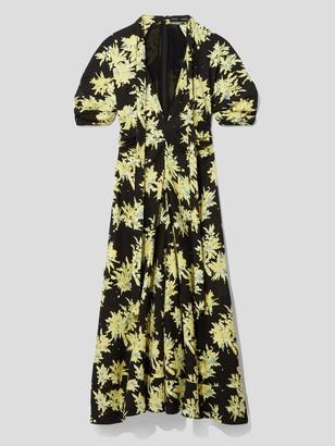 Proenza Schouler Short Sleeve Floral Tie Dress