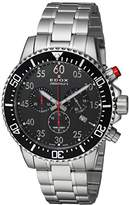 Edox Men's 'Chronorally-S' Quartz Stainless Steel Sport Watch, Color:Silver-Toned (Model: 10227 3M NBN)