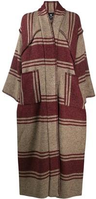 Etro Long Striped Wool Coat