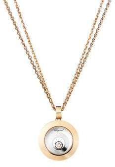 Chopard Happy Spirit Diamond, 18K Rose& White Gold Double Circle Pendant Necklace