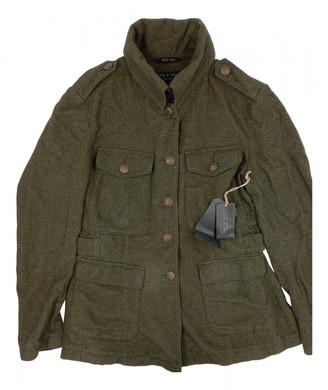 Rag & Bone Green Cotton Leather jackets