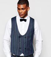 Reclaimed Vintage Scoop Waistcoat In Tweed