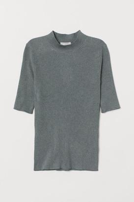 H&M Knit Mock Turtleneck Sweater - Green