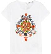 Dolce & Gabbana White Sicily Embellished Tee