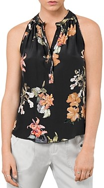Go by Go Silk Sleeveless Snap-Front Top