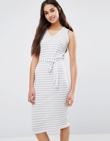 Daisy Street Tie Waist Stripe Dress