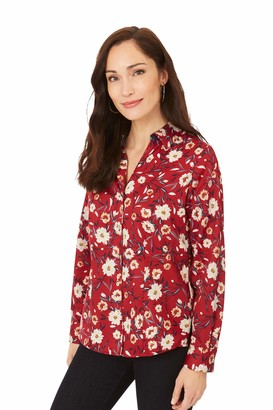 Foxcroft Womens Lauren Non-Iron Floral Shirt