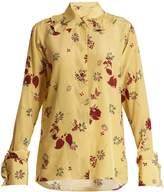 Valentino Floral-print silk crepe de Chine shirt