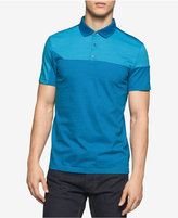 Calvin Klein Men's Slim-Fit Colorblocked Liquid Cotton Polo