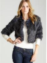 Romeo & Juliet Couture Elbow Slv Faux Fur Jacket