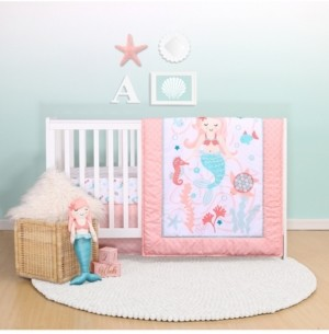 The Peanut Shell Ps by The Mermaid Kisses 3-Piece Crib Bedding Set Bedding