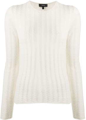 Theory Striped Cashmere Jumper