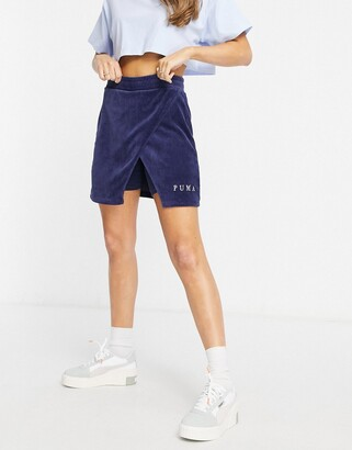 Puma cord skirt in navy