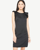 Ann Taylor Ruffle Sleeve Shift Dress