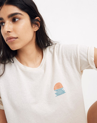 Madewell Ocean Sunset Graphic Oversized Tee