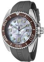 Invicta Women's 0483 Angel Collection Stainless Steel Grey Polyurethane Strap Watch